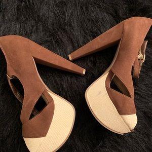 Brown & Cream sandals 👡